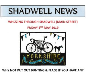 Shadwell News front page depicting Tour of Yorkshire